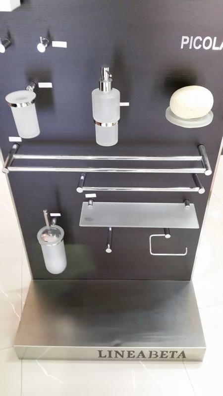 Accessori da bagno lineabeta serie picola in ottone cromato e vetro acidato montesanto srl - Accessori bagno in ottone ...
